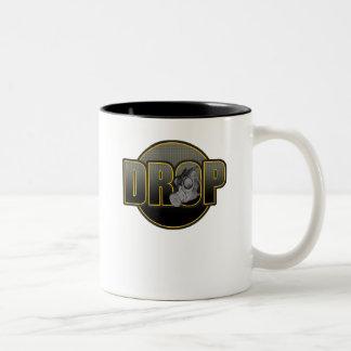 DROP DnB Drumnbass dubstep Jungle Hardstyle DJ Two-Tone Coffee Mug
