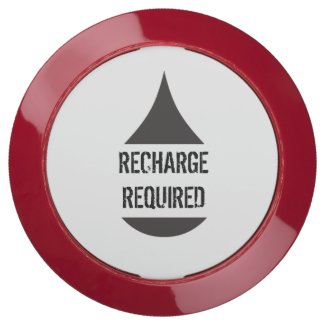 Drop Icon Graphic Recharge Required Black