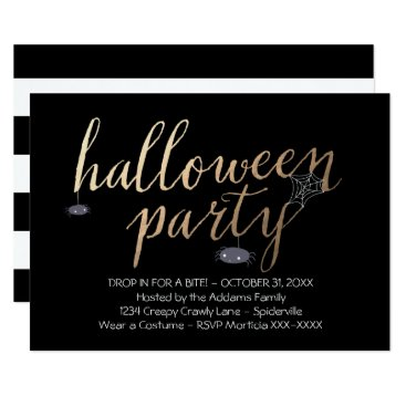Halloween Themed Drop in for a Bite - Spider Halloween Party Card