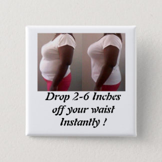 Drop inches pinback button