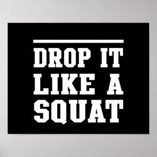 Drop it Like a Squat Poster