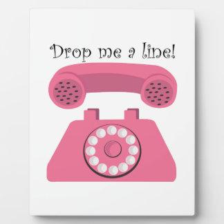 Drop Me A Line! Photo Plaque