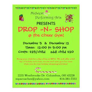 """drop n shop 4.5"""" x 5.6"""" flyer"""