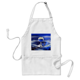 Drop of Cool Blue Water Raindrop Adult Apron