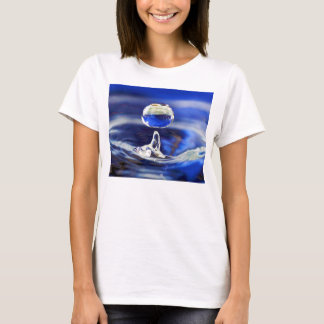 Drop of Cool Blue Water Raindrop T-Shirt