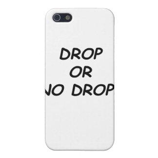 DROP OR NO DROP - BLACK.psd iPhone SE/5/5s Cover