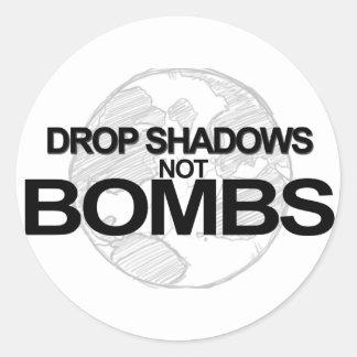 Drop Shadows Classic Round Sticker
