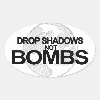 Drop Shadows Oval Sticker