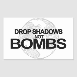Drop Shadows Rectangular Sticker