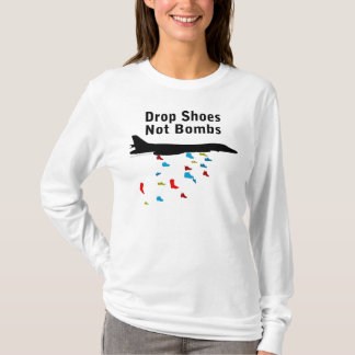 Drop Shoes Not Bombs Anti-War T-Shirt
