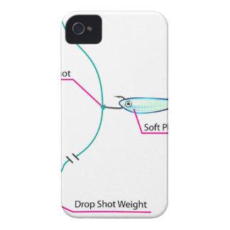 Drop Shot lure setup bottom fishing iPhone 4 Case-Mate Case