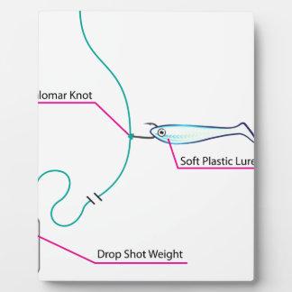 Drop Shot lure setup bottom fishing Plaque