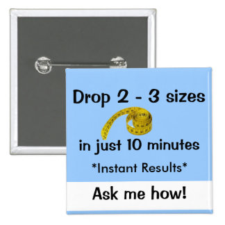 Drop sizes - Ardyss 2 Inch Square Button