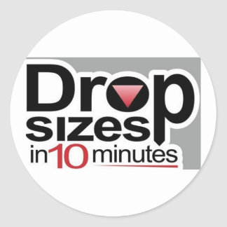 Drop Sizes in 10 Minutes Classic Round Sticker