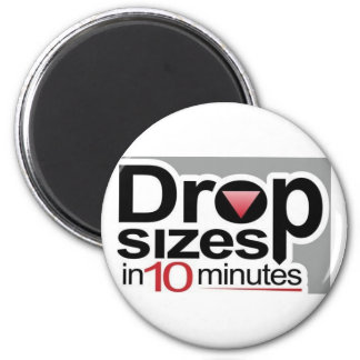 Drop Sizes in 10 Minutes Fridge Magnets