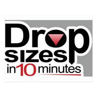 Drop Sizes in 10 Minutes Postcard