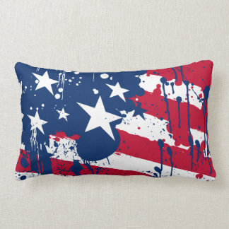Drop Splash Colors America Flag Pillow