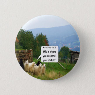 Drop Stitch Sheep Button