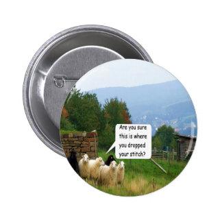 Drop Stitch Sheep Button