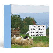 Drop Stitch Sheep Vinyl Binder
