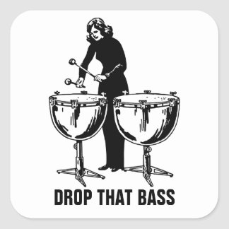 Drop That Bass Square Sticker