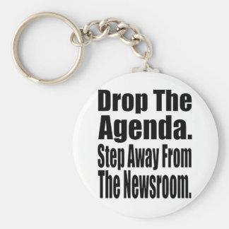 Drop the Agenda Basic Round Button Keychain