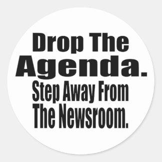 Drop the Agenda Classic Round Sticker