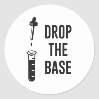Drop the Bass Chemistry Base Classic Round Sticker