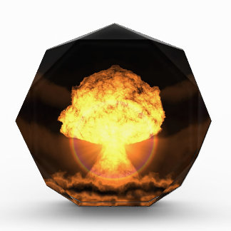 Drop the bomb acrylic award