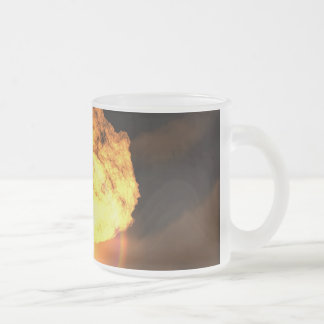 Drop the bomb frosted glass coffee mug