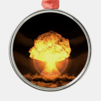 Drop the bomb metal ornament