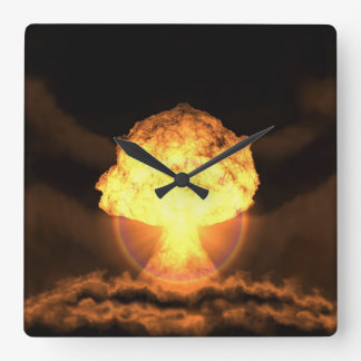 Drop the bomb square wall clock