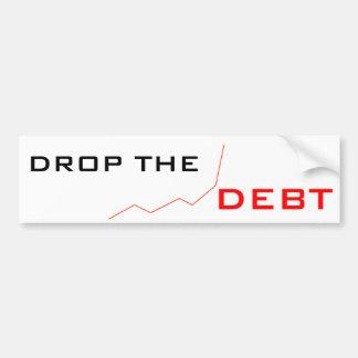 Drop the Debt Car Bumper Sticker