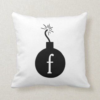 Drop the F Bomb Throw Pillow