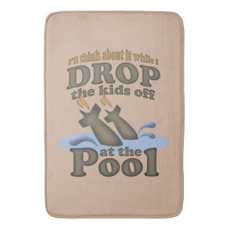 Drop the kids off at the pool bath mat