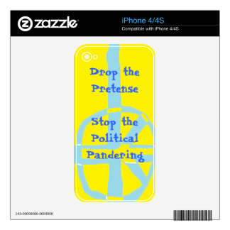 Drop the Pretense Decal For iPhone 4