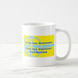 Drop the Pretense Classic White Coffee Mug