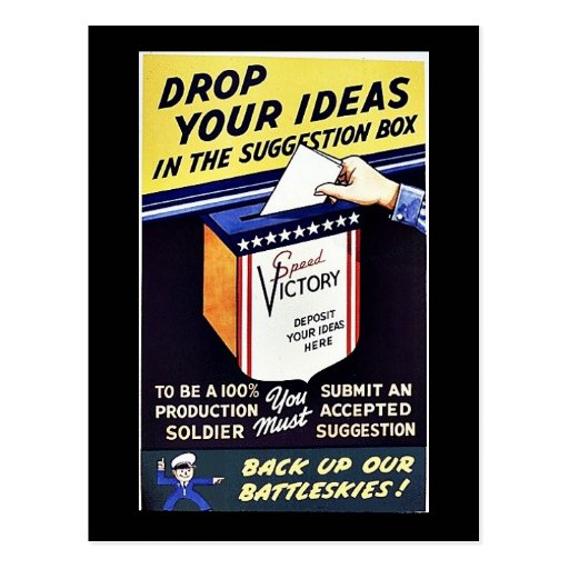 Drop Your Ideas In The Suggestion Box Postcard