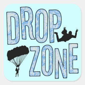 Drop Zone Square Sticker
