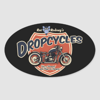 Dropcycles Oval Sticker