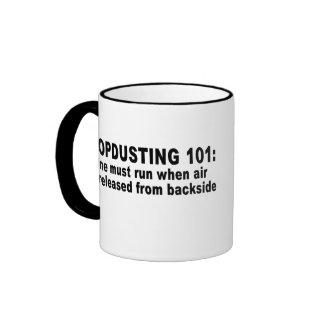 Dropdusting 101 ringer coffee mug