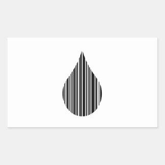 Droplet bar code rectangular sticker