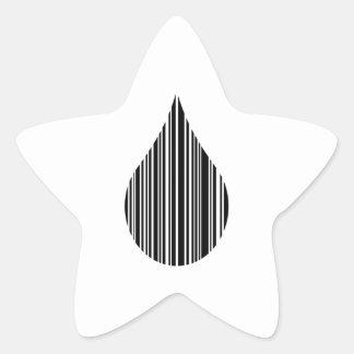 Droplet bar code star sticker