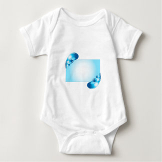 Droplets artwork baby bodysuit