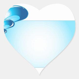 Droplets artwork heart sticker