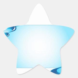 Droplets artwork star sticker
