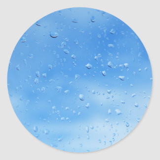 droplets classic round sticker