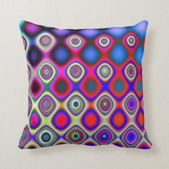 Droplets - Fractal Art Pillow