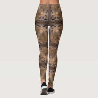 Droplets Inverted Gold Geometric Leggings