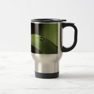 Droplets on a Leaf Travel Mug